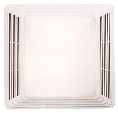 Broan-Nutone HD80L Heavy Duty Ventilation Fan and Light Combo for Bathroom and Home, 100-Watt Incandescent Light, 80 CFM